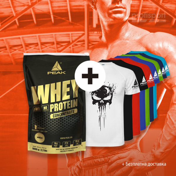 ТЕНИСКА PUNISHER  + WHEY CONCENTRATE
